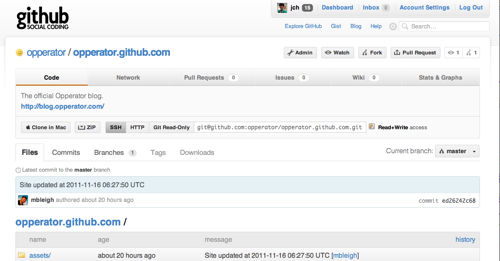 Opperator and GitHub
